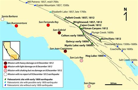 california map earthquake faults terrifying multi fault earthquake could strike southern