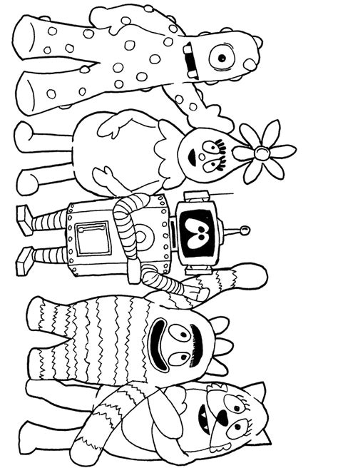 printable coloring pages yo gabba gabba yo gabba gabba coloring pages birthday printable