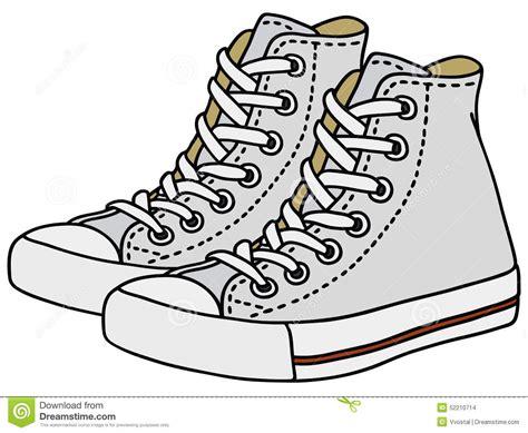 imagenes animadas de zapatillas zapatillas de deporte blancas ilustraci 243 n del vector
