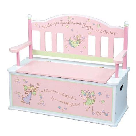 girls toy box bench wildkin fairy wishes toy box bench