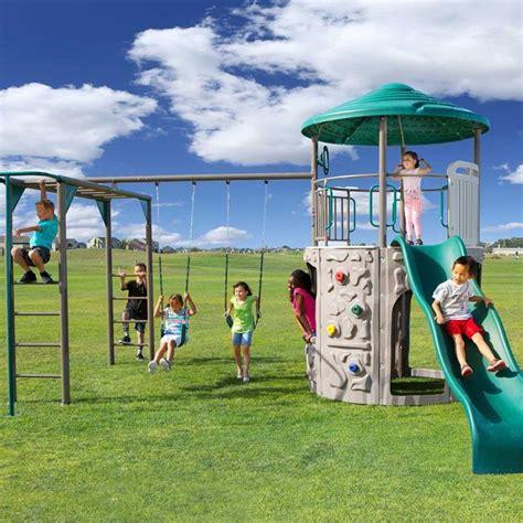 swing set troline swing sets with monkey bars for sale 187 treetops tower