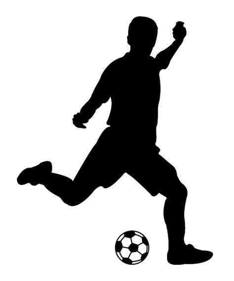Silver Wall Stickers footballeur