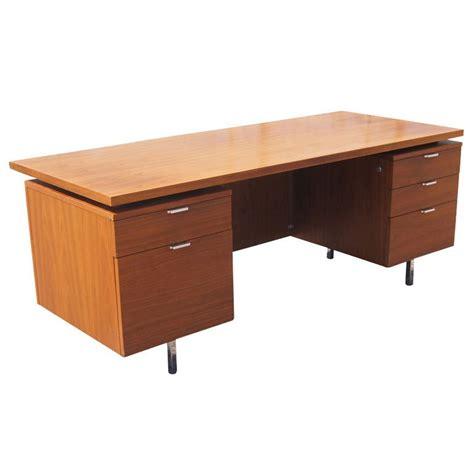 Herman Miller Desk george nelson for herman miller walnut executive desk at 1stdibs