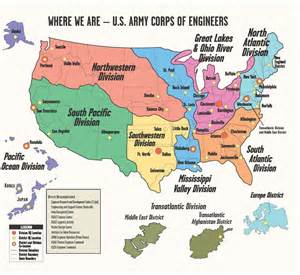 map of corps districts pictures to pin on