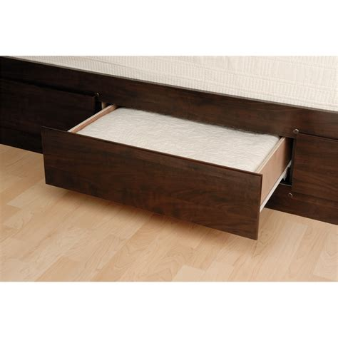 twin platform bed with storage drawers prepac espresso tall twin captain s platform storage bed
