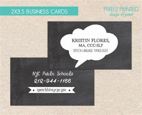 speech therapy business cards speech language pathologist business cards slp business
