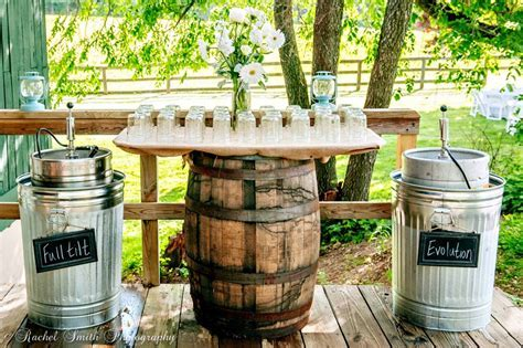Wedding Kegs of Full Tilt and Evolution, Rustic Farm