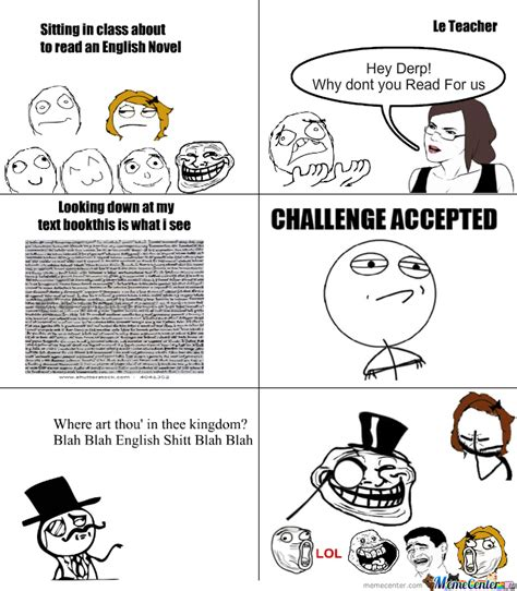 Memes About English Class - today in english class by trigramz meme center