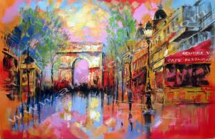 Delightful Contemporary Art For Sale #3: Arc_de_Triomphe_Acrylic_Painting_N.jpg