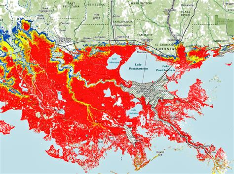 louisiana flood maps new map warning system gives detailed flood risk but not for inside levees the lens