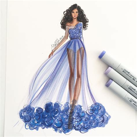 design art fashion storm a violet morning sketched with copicmarker pinteres