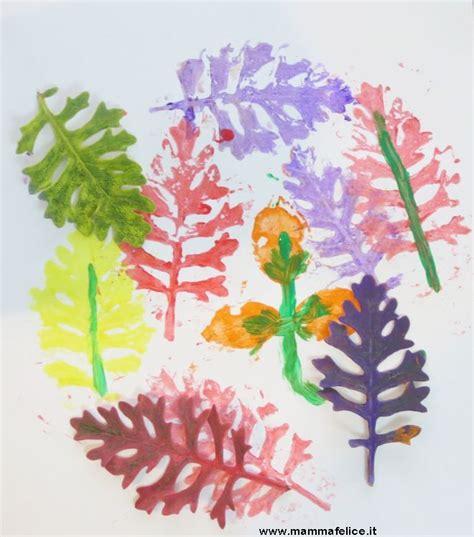 fiori per bambini lavoretti per bambini con fiori e foglie mamma felice