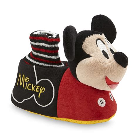 mickey mouse house slippers disney toddler boy s mickey mouse slipper black red