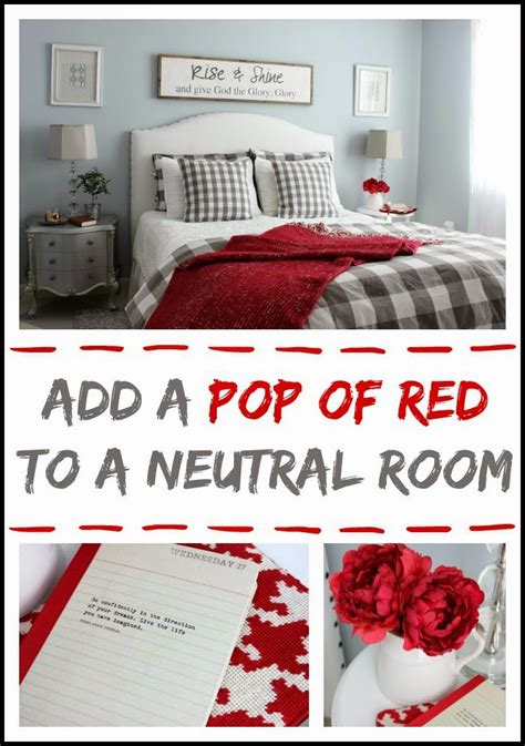 how to add color to a room adding a pop of red to a neutral room hymns and verses