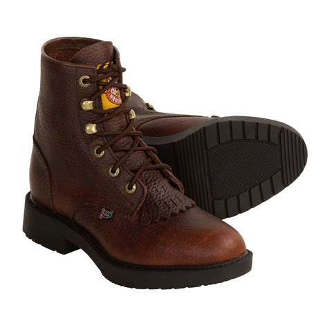 justin boots for justin boots pitstop lacer boots for and youth