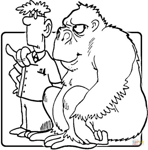 coloring pages veterinarian gorilla to veterinarian quot are you my friend quot coloring