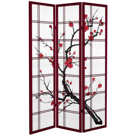 oriental furniture 6 ft rosewood canvas cherry blossom 3