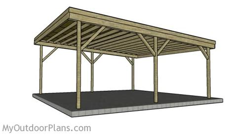 Carport Roof Designs by 2 Car Carport Plans Myoutdoorplans Free Woodworking