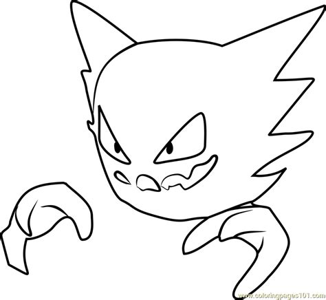 pokemon coloring pages haunter haunter pokemon go coloring page free pok 233 mon go