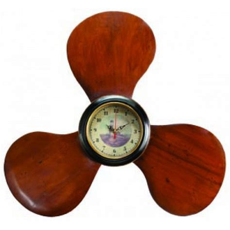 boat propeller wall clock buy wooden propeller clock 22 inch nautical gifts
