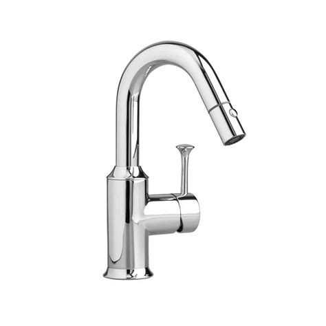 american standard kitchen sink faucet american standard pekoe single handle pull out sprayer kitchen faucet in polished chrome 4332