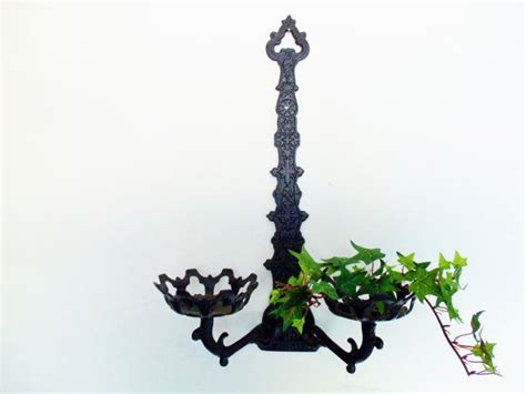 Plant Wall Sconces Wall Decor Sconce Black Double Plant Or Candle Holder Wall