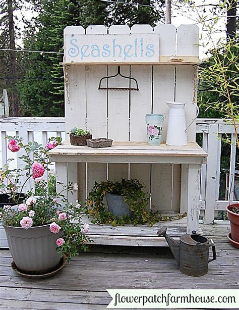 garden potting bench ideas potting bench and table ideas house of hawthornes