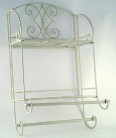 shabby chic metal towel rail white vintage