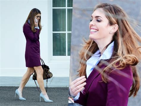 hope hicks politics hope hicks exits white house in purple blazer suede