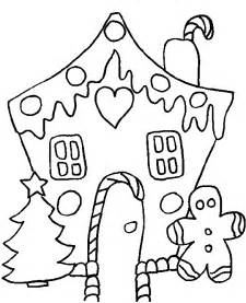 Gingerbread house coloring page busy little christmas elf