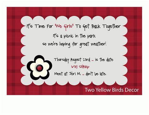 Invitation Letter Card invitation letter for a get together image