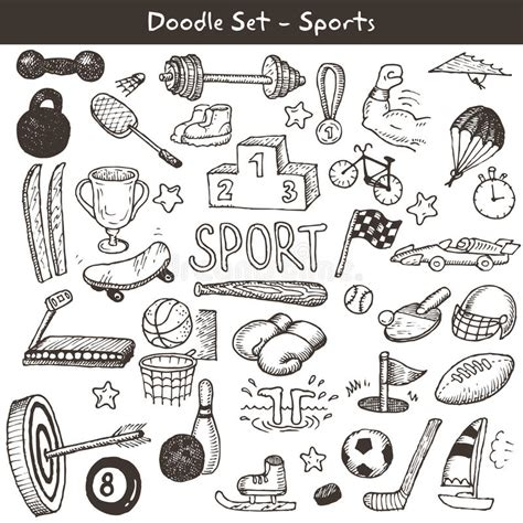Doodle Sports Royalty Free Stock Image Image 34429446