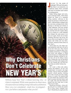 why celebrate new year why christians don t celebrate new year s