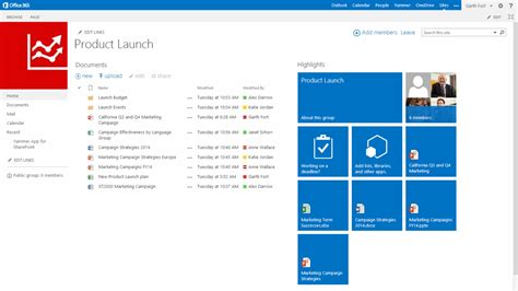Website Microsoft Sharepoint Team Site View News Center
