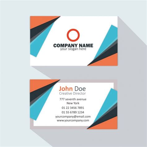 free orange and blue business card templates orange and blue business card vector free