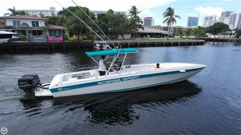 scarab boats fishing 1994 used scarab 30 sport center console fishing boat for