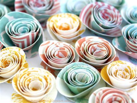 tutorial rolled paper flowers papervine wedding tutorials day 2 flowers