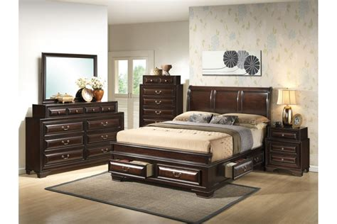 King Size Bedroom Set Bedroom Sets South Coast Cappuccino King Size Storage Bedroom Set Newlotsfurniture