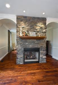 two sided fireplace home