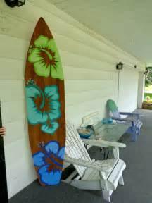 6 foot wood hawaiian surfboard wall decor or headboard