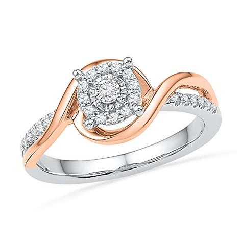 sterling silver with 10kt pink gold promise