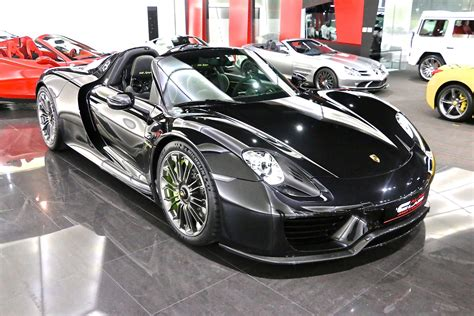 porsche supercar black beautiful black porsche 918 spyder for sale gtspirit