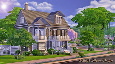home design for sims 4 sims4 the chocolate house 巧克力屋 no cc ruby s home design