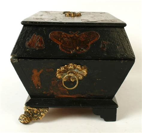 Decoupage Boxes For Sale - regency decoupage box early 19th century for sale