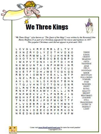 We Search For We Three Word Search Printable Puzzle