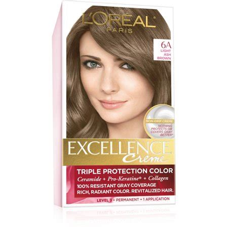 l oreal excellence creme protection permanent hair color creme medium brown 5 1 0 l oreal excellence creme protection permanent hair color creme light ash brown 6a
