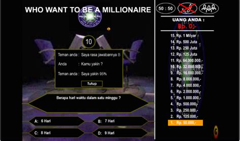 membuat game who wants to be a millionaire who want to be a millionaire game edukasigame edukasi