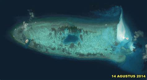 Ban Dra Kapal melihat tiongkok membangun pulau dilihat dari citra