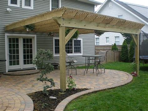 how to build a pergola attached to house hunker