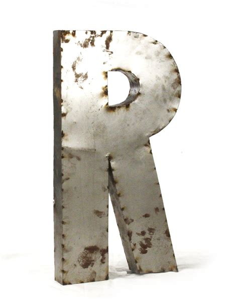 large metal letters industrial rustic metal large letter r 36 inch kathy kuo 1349